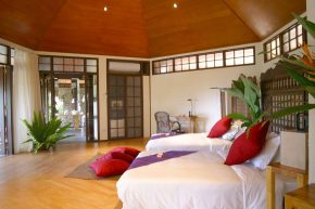 Resort villa with double bed