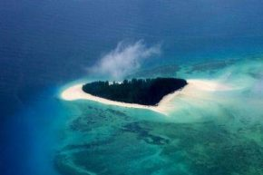 Вид на остров Мнемба сверху