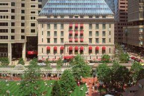 Вид на Langham Hotel Boston