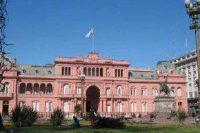 Президентский дворец на площади Plaza de Mayo
