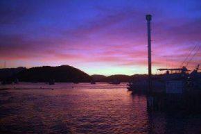 Порт на закате